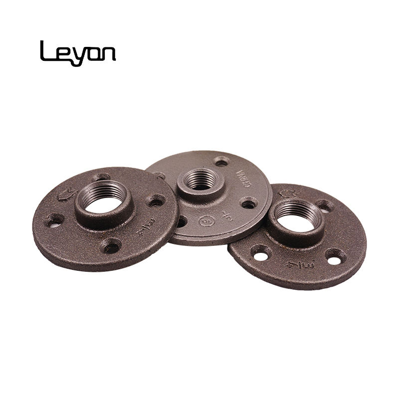 1/2 inch NPT threaded malleable iron black floor flange bathroom Accessories Wall Mount industrial pipe furniture