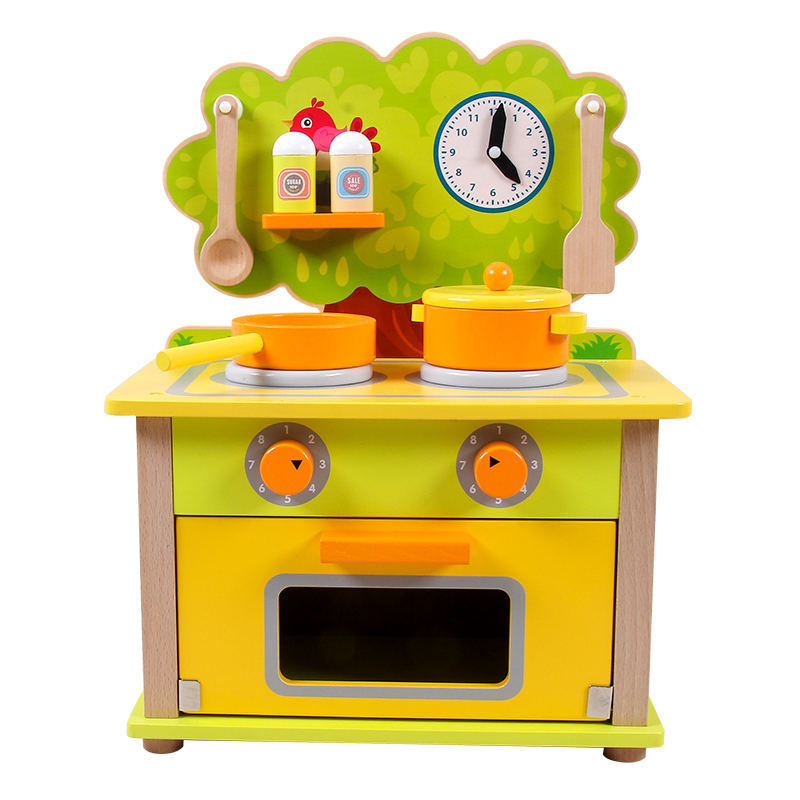 2020 Boys Girls Pretend Playing Kitchen Set Wooden Toys New Design Multifunctional Kids Toys