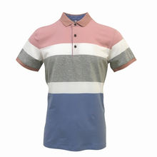 Wholesale Stitching Color Design Golf T-shirt Embroidery Contrast Color Polo  Shirt