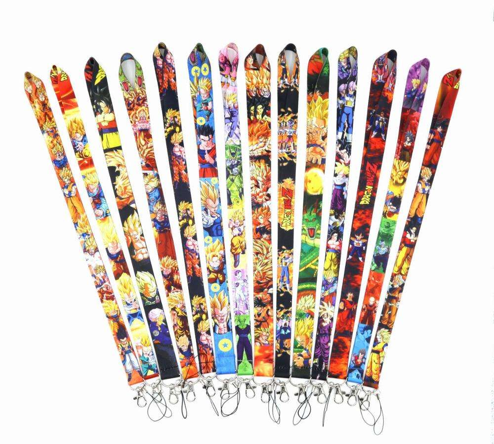 Wholesales Anime Cartoon Dragon Ball Character Lanyards for ID Badge Phone Holders