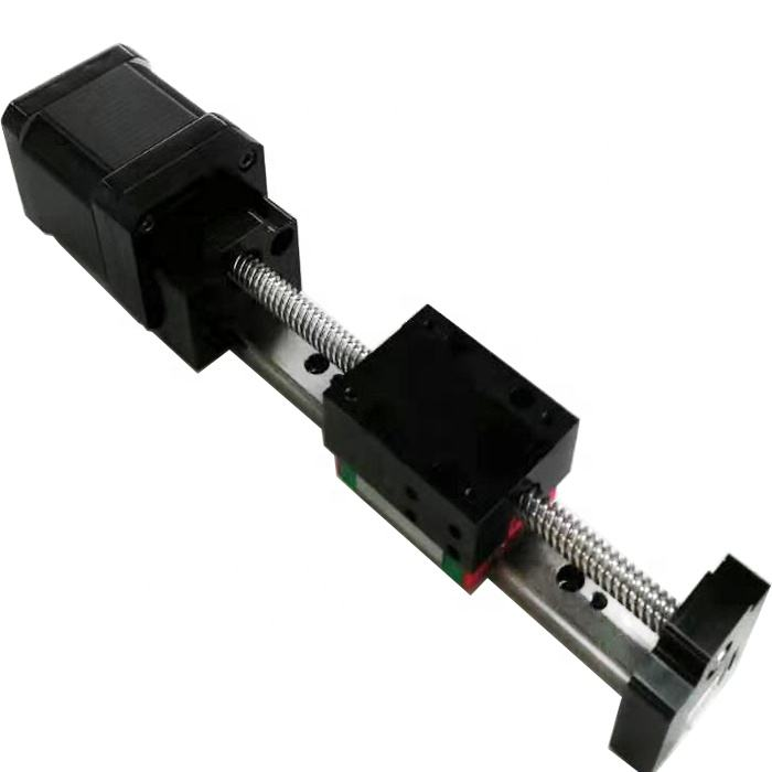 Compact Ball Screw 12v 24v nema 17 nema 23 nema 34 Stepper Motor Linear Moton Guide Way Rail Module Linear Guide