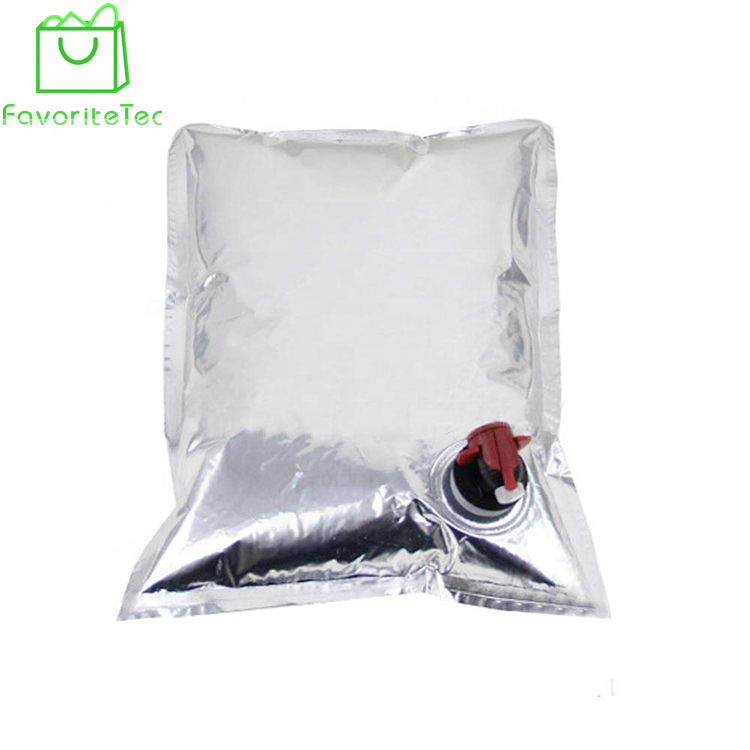 Oil Packaging Leakproof Durable Bag In Box Aluminum Foil Storage Bag With Valve For Wine/beverage
