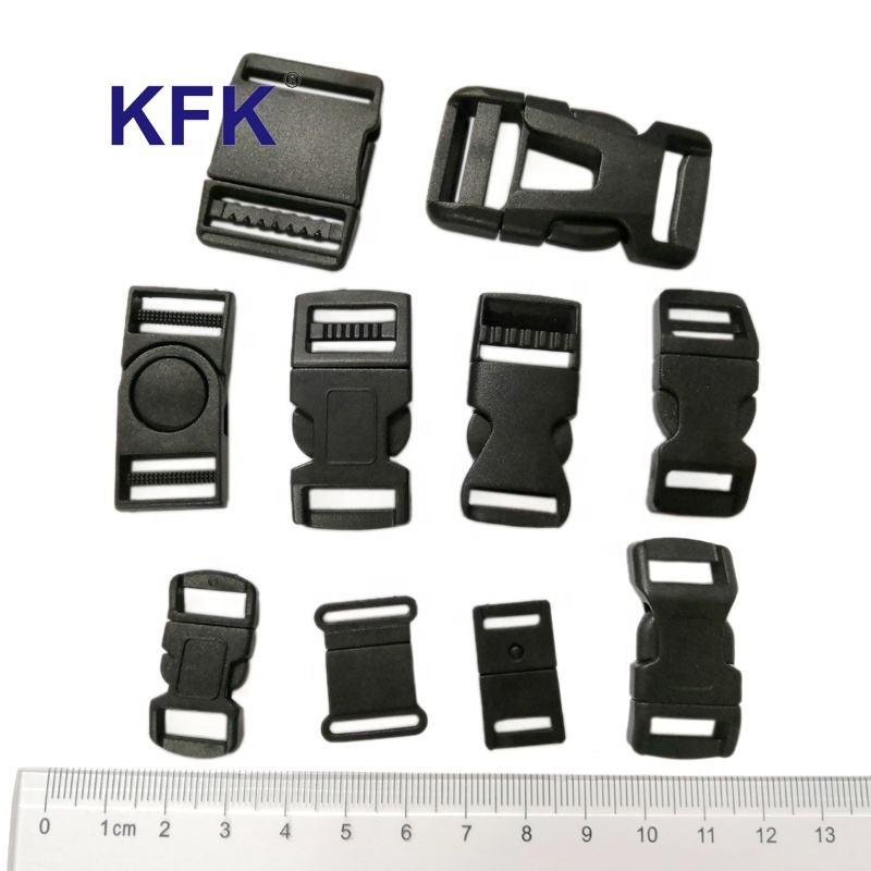 20mm Custom Black Plastic Adjuster Military Quick Release Backpack Adjustable Strap Small Collar Bag Buckle
