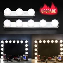 Hollywood-style vanity mirror lights stick on touch control design 5 LED light bulbs Lens headlight