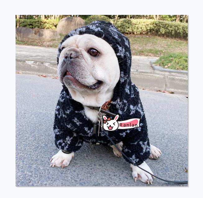 High-end custom winter warm plush thickening dog clothing luxury brand pet apparel