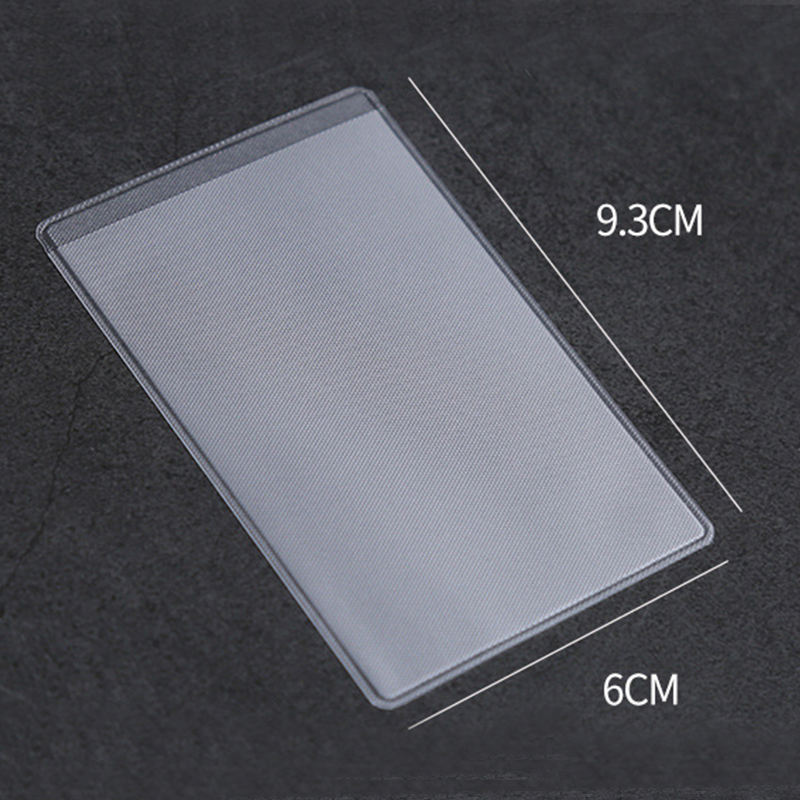 Stock protector high quality pvc waterproof card protectors sleeves, cheap price card holder for bank credit ID card