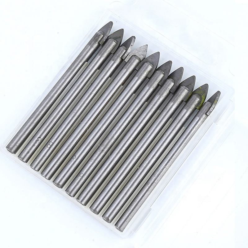 GLASS TILE TUNGSTEN CARBIDE DRILL BIT CERAMIC TCT CROSS SPEAR HEAD