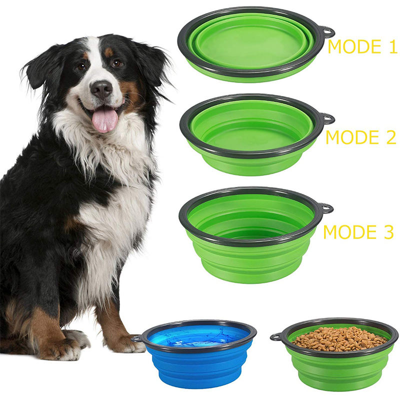 450ml Portable Pets Silicone Bowls Travel Collapsible Dog Bowl