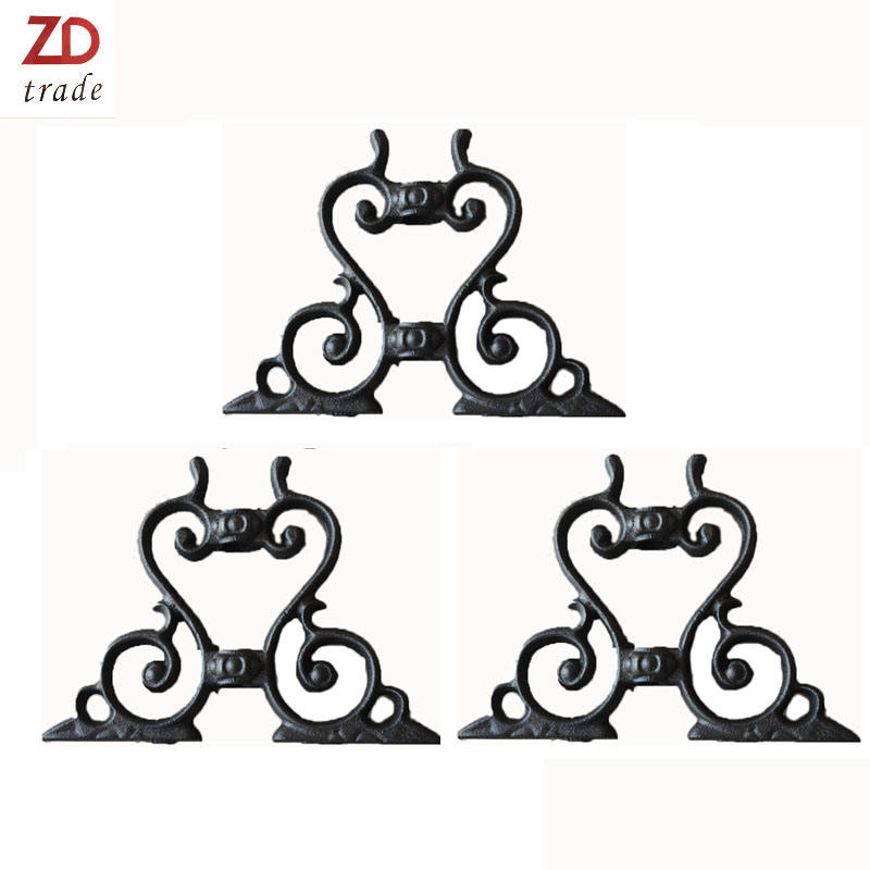 low decorative garden Wrought Iron fence Rosettes cast iron rosette irons forged stainless steel fence panels
