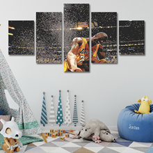 NBA Basketball Star Kobe Bryant 5 Pieces Wall Art Decor Canvas Print