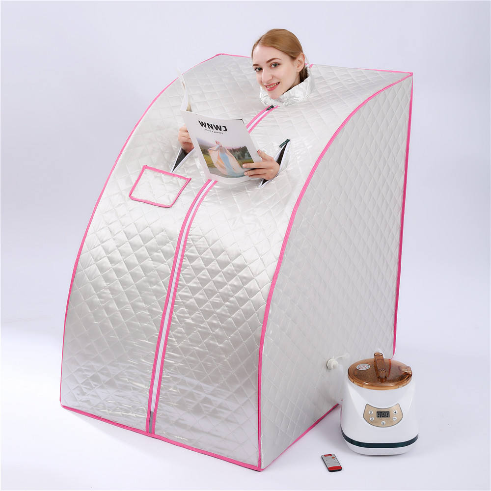 Portable Steam Sauna Room Sauna Generator Slimming Household Sauna Box Ease Insomnia Stainless Steel Pipe Support Cabin Room