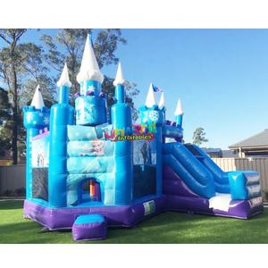 Wholesale outdoor children 5 in 1 adult elsa bouncer frozen house jumping bouncy slide inflatable castle