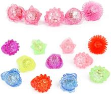 Diamond Bumpy Rings Party Supplies Soft TPR Finger Blinkers Party Favors LED Light Up Jelly Rings