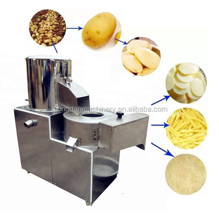 industrial sweet potato ginger onion potato chips cleaning peeling and cutting machine