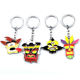 anime style keychain Crash Bandicoot movie theme product four colorful metal cute pendant for boy girl gift car bag keyring