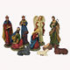 Holy Family and Three Kings Inspirational Religious Christmas Resin Nativity Scene Set