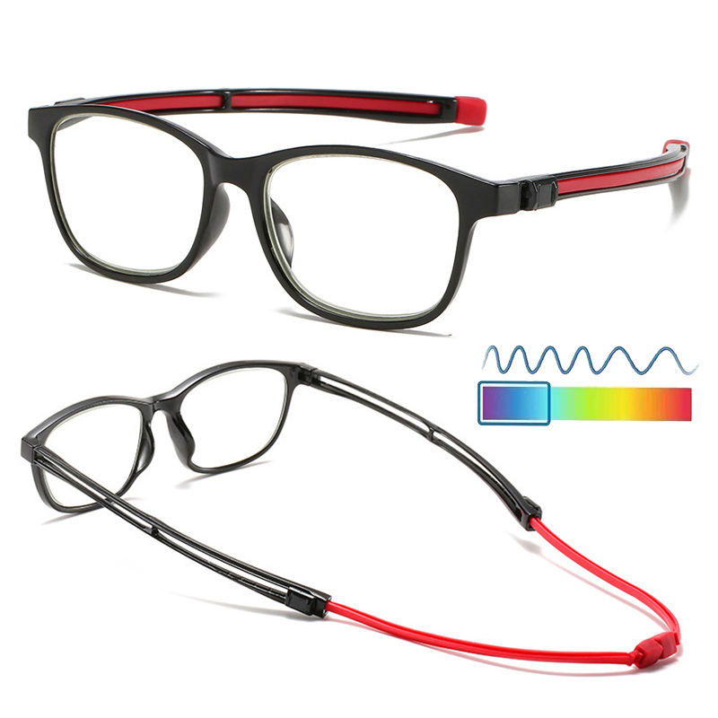 2020 Fashion Magnetic Readers Magnet blue light blocking reading glasses with adjustable silicone arms blue locker