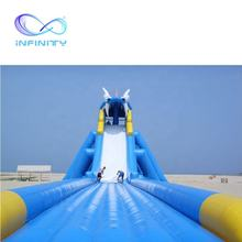 Crazy amusement park inflatable bouncy jumping castle water slides with swimming pool for kids and adults on sale