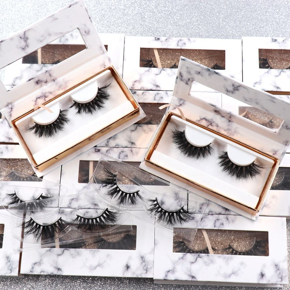 Wholesale Custom Packaging Eyelashes Own Brand Private Label 100% Real Mink Lashes 3D Mink Eyelashes
