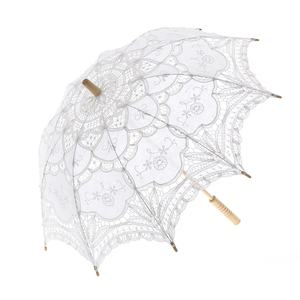 Ameliebridal Victorian Party Gifts Birthday Shower Handmade Wedding Decoration Bride Lace Umbrella Battenburg Lace Parasol