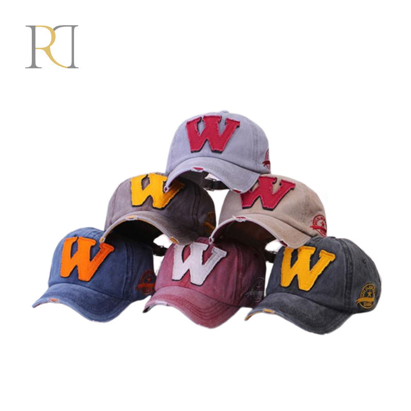 Custom fashion fabric with embroidery quality baseball cap multi color