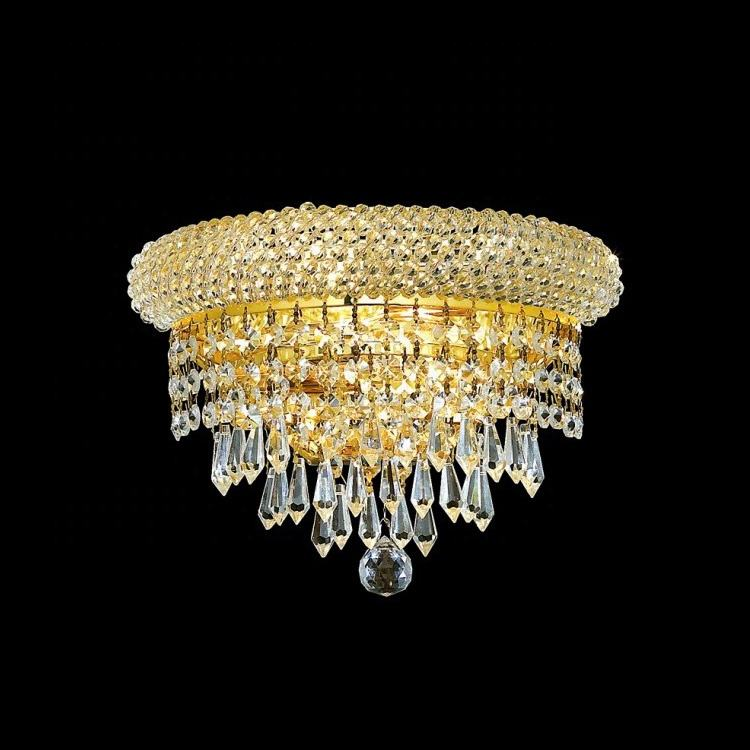 Factory Directly Supply Favourable Price Widespread Golden Finish Luxury wall lamp Modern