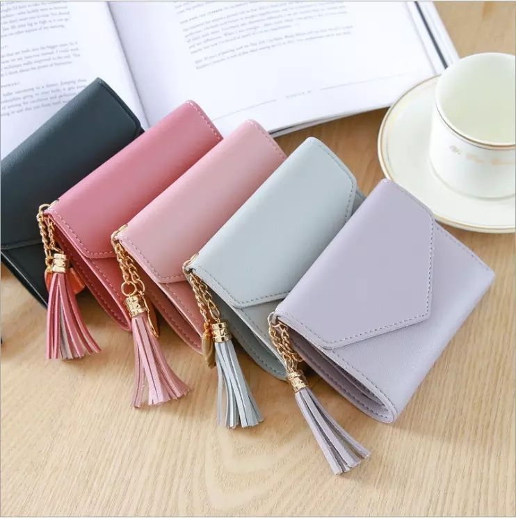 2019 fashion mini women PU leather wallet ladies purse woman clutch small wallet for women