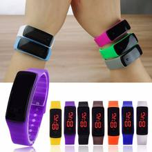 Custom led student sports bracelet watch LED watch silicone watch