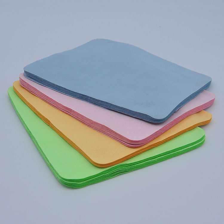 eyeglasses cleaning cloth plaint logo recycled microfiber 6 * 8