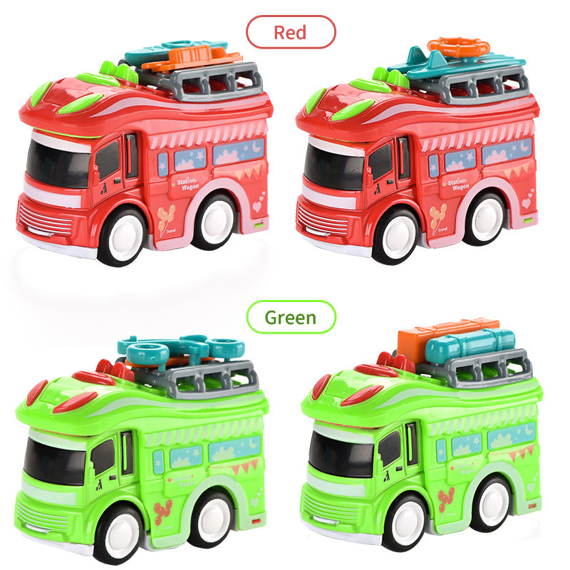 Mini Simulation Alloy Cartoon Inertial Vehicles Diecast Car Model RV Toy Die Cast Car For Children Gift