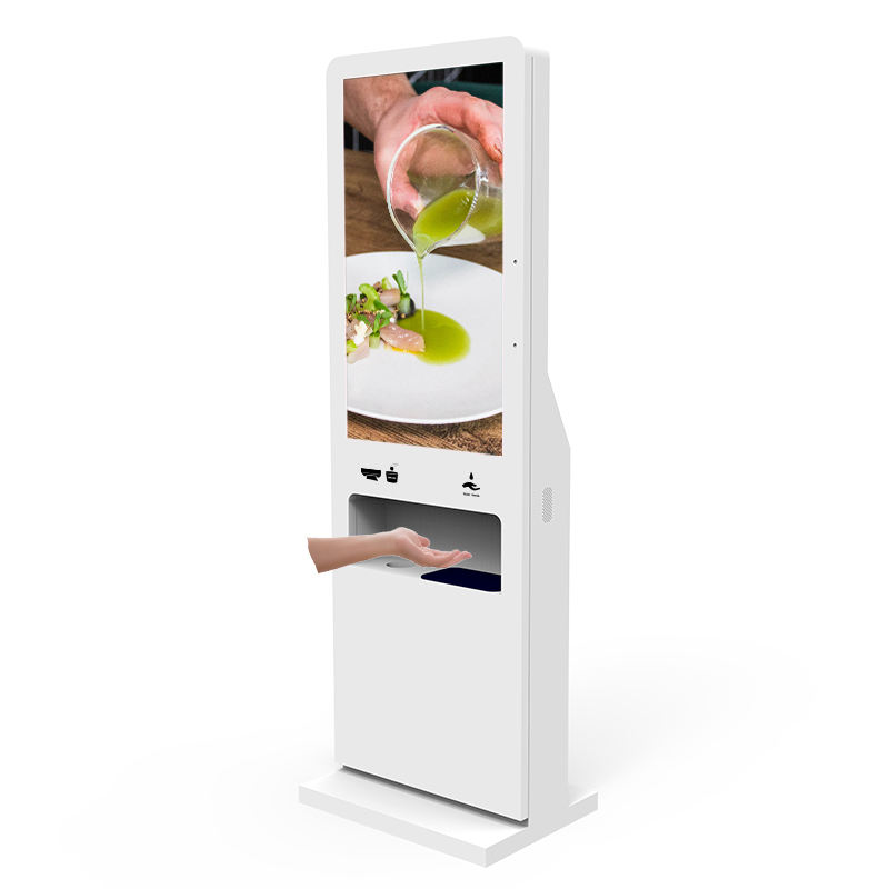Disinfettante per le mani display <span class=keywords><strong>lcd</strong></span> chioschi, digitale automatico disinfettante per le mani dispenser, disinfettante per le mani la termometro chiosco