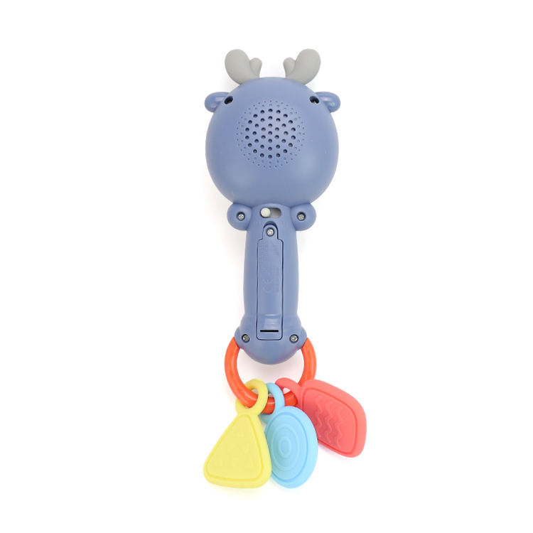 Kidewan No-toxic Silicone Baby Teether Toys Elk Rattle Music Wand With Music For Kids Infant
