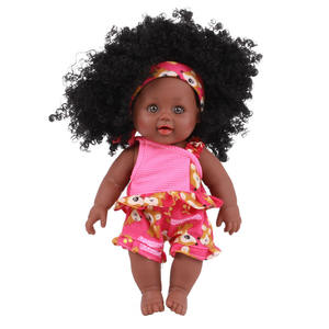 Sample China Fabriek Zwarte Baby Pop Amerikaanse Afrikaanse Kids Poppen Met Afro Haar