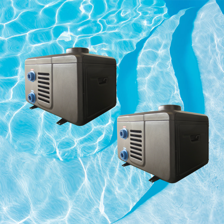 Electric portable spa pool water heater, pool heat pump