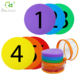 Hotsale Round Hook Dots Carpet Spot Sit Markers x 5colors*6pcs Classroom Circles for Teachers