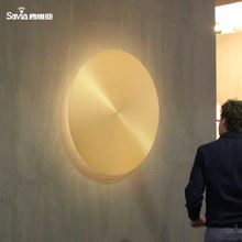Savia LED 98cm Copper Aluminum Solid Brass Gold Wall Surface Mount Light Modern Indoor Hotel Decorative Round Wall Lamp