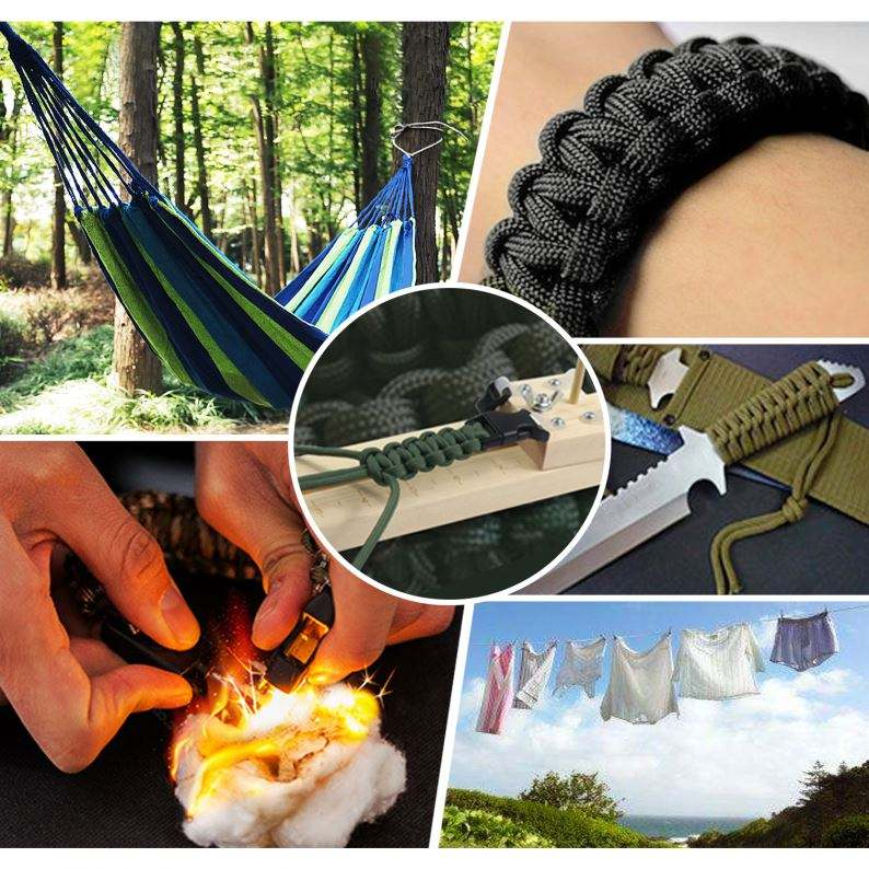 Survival Bracelet Tools Survival Fire Starter Hiking Factory Wholesale Camping Equipment Paracord Survival With Tools Outdoor Accessories Fire Starter Kit Bracelet