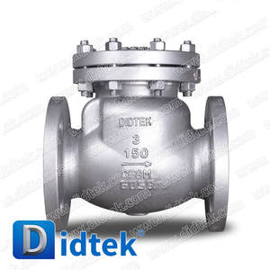 Didtek Cryogenic Stainless Steel CF8M Non Return Valve 600LB Swing Check Valve