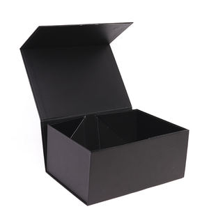 Black Large Luxury Custom Logo Magnetic Closure Foldable Rigid Cardboard Paper Gift Packaging Shoe Box