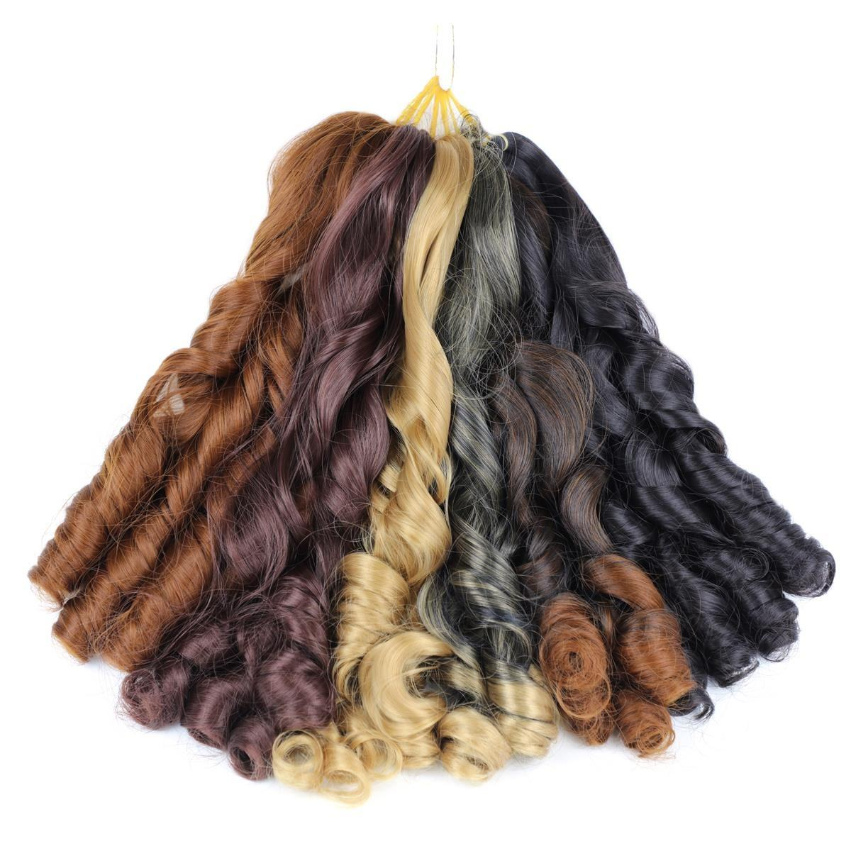 "20"" Spiral Curls Synthetic Hair Bundles Loose Wave Braiding Hair Crochet Braids Blonde Freetress Wavy Hair Extension"