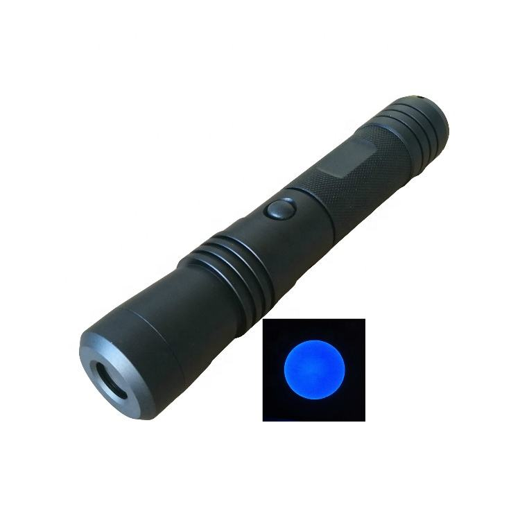 Blue led light torch for hunting CSI forensics lamp blue led flashlight for blood detection stain inspection police searching