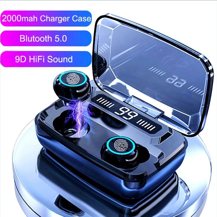 High-quality Waterproof 5.0 Wireless Sport Earphone Headphone Blue tooth Ear Earphones Headphones