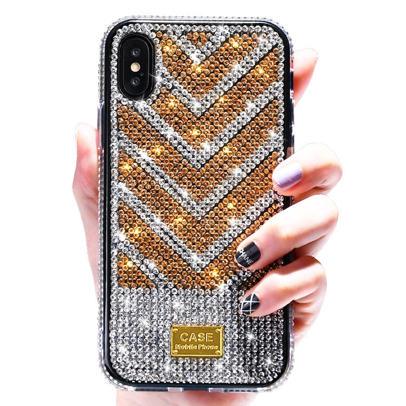 Luxus Glitter Sparkly Diamanten Blings Dual Layer TPU + PC Stoßfest Fall für iPhone 11 2019 XR XS MAX XR 8 6 6S 7 Plus