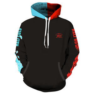 Chinese factory plain hoodies unisex men's jacket in 3d printing hoodies in stock