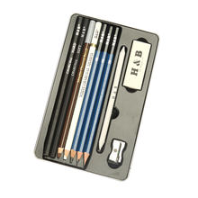 Portable charcoal drawing art supply sketch pencil kit for adults