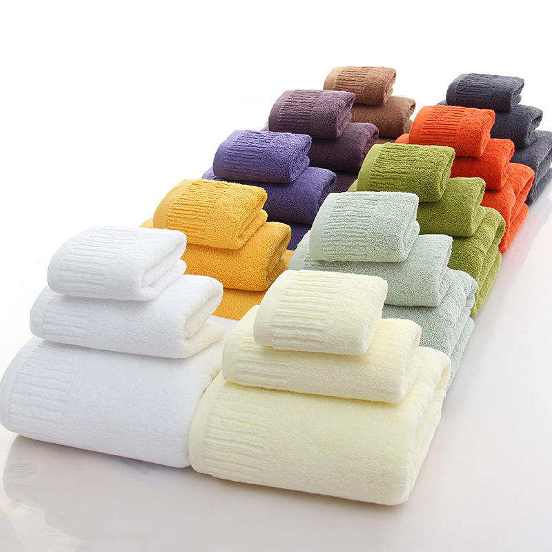 600 gram 100% cotton solid color white spa bathing towel made in india salon bath towels set