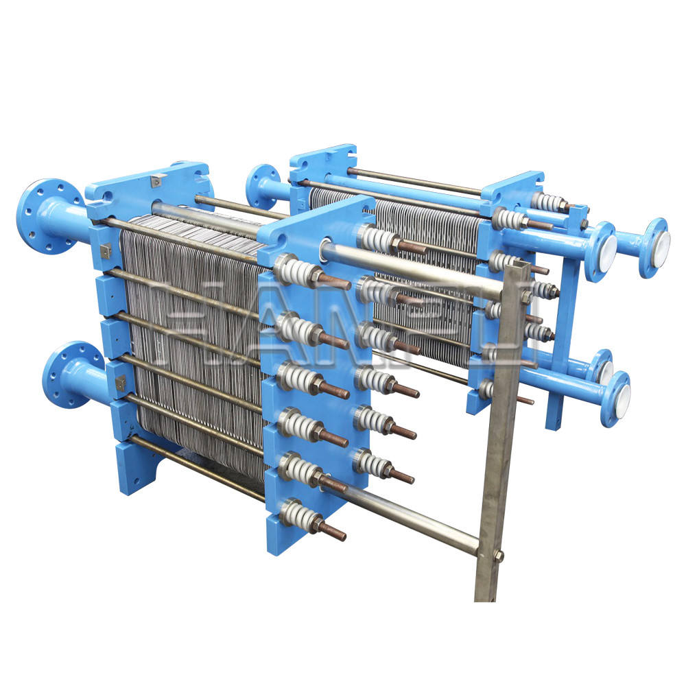 SS304 High heat transfer efficiency air to water plate heat exchanger with pillow plate
