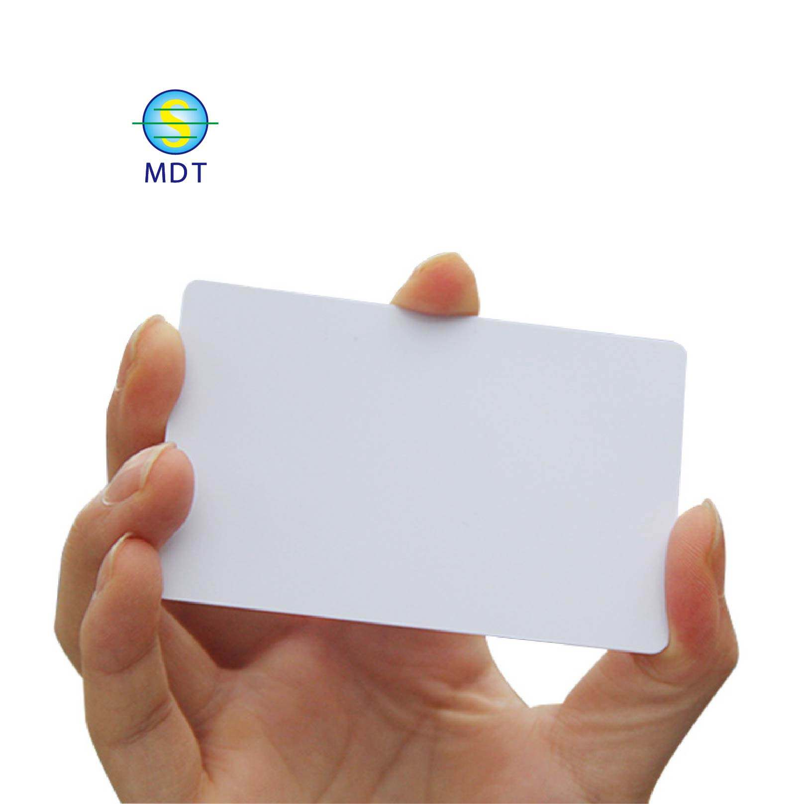 CR80 White Blank PVC Plastic Cards for Photo ID card printers