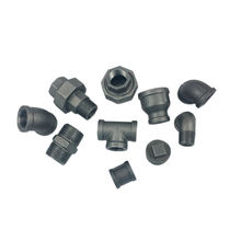 "Black 3/4"" tee elbow malleable cast iron pipe fittings for plumbing fire fighting gas with EN 10242 ISO7-1 black fittings"