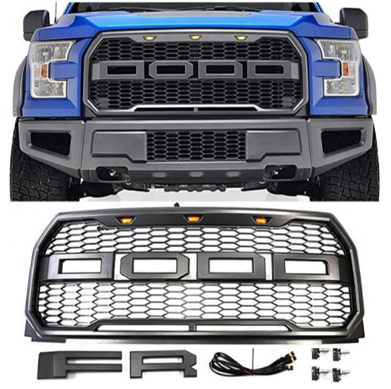 Honeycomb Mesh Grill f150 Raptor style Grille For Ford F150 2015 2016 2017
